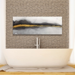 Canvas 16 x 48 - Gold stripe abstract