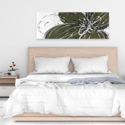 Canvas 16 x 48 - Green flower with splash outline