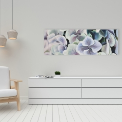 Canvas 16 x 48 - Colorful hydrangea flowers