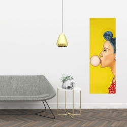Canvas 16 x 48 - Retro woman with beautiful ponytail