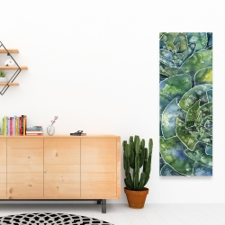 Canvas 16 x 48 - Abstract succulents