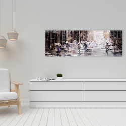 Canvas 16 x 48 - Industrial abstract city