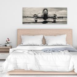 Canvas 16 x 48 - Sepia airplane