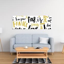Canvas 16 x 48 - Bonjour paris
