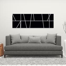 Canvas 16 x 48 - White stripes on black background