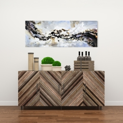 Canvas 16 x 48 - Texturized abstract wave