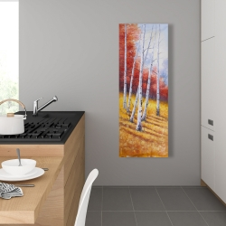 Canvas 16 x 48 - Fall landscape with birches