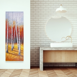 Canvas 16 x 48 - Fall forest landscape