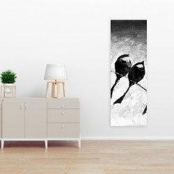 Canvas 16 x 48 - Five birds perched