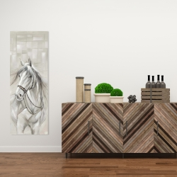 Canvas 16 x 48 - Worthy white horse