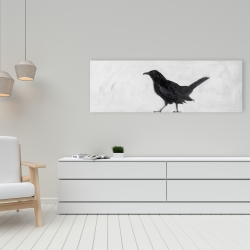 Canvas 16 x 48 - Lonely crow