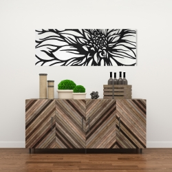 Canvas 16 x 48 - Dahlia flower outline style