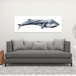 Canvas 16 x 48 - Watercolor whale