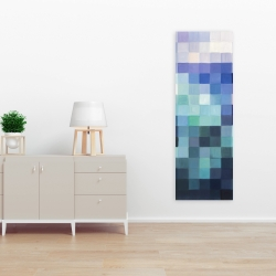 Canvas 16 x 48 - Pixelized landscape