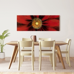 Canvas 16 x 48 - Red daisy