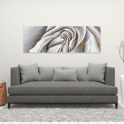 Canvas 16 x 48 - White rose delicate