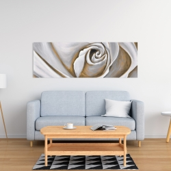 Canvas 16 x 48 - White rose closeup