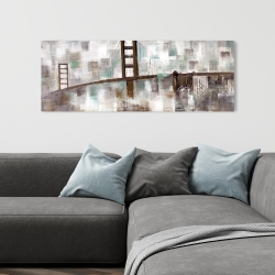 Canvas 16 x 48 - Abstract golden gate