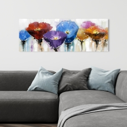 Canvas 16 x 48 - Colorful flowers