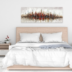 Canvas 16 x 48 - Abstract colorful skyscrapers