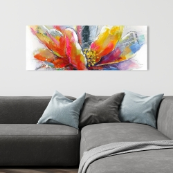 Canvas 16 x 48 - Abstract flower with texture