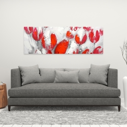 Canvas 16 x 48 - Red tulips