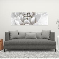 Canvas 16 x 48 - Delicate white chrysanthemum