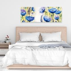 Canvas 16 x 48 - Blue garden