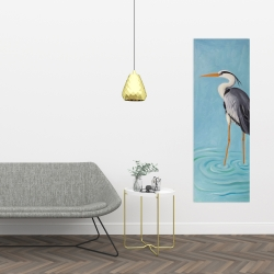 Canvas 16 x 48 - Grey heron