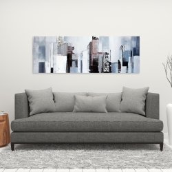 Canvas 16 x 48 - Abstract building shapes
