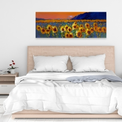 Canvas 16 x 48 - Field of sunflowers