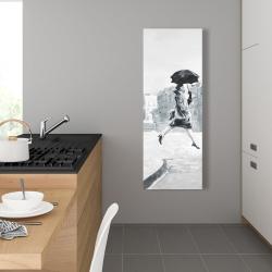 Canvas 16 x 48 - Woman in the rain