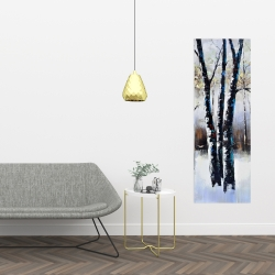 Canvas 16 x 48 - Frosted trees