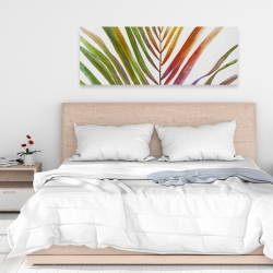 Canvas 16 x 48 - Watercolor tropical palm leave