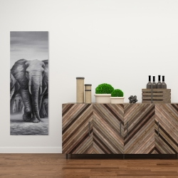 Canvas 16 x 48 - Herd of elephants