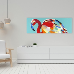 Canvas 16 x 48 - Abstract flamingo