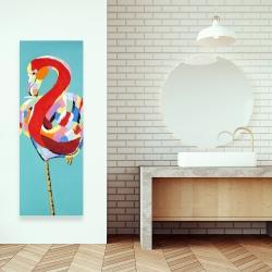 Canvas 16 x 48 - Colorful flamingo