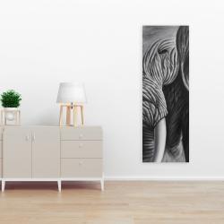 Toile 16 x 48 - éléphant