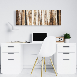 Canvas 16 x 48 - Trees of an asbtract forest