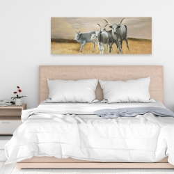 Canvas 16 x 48 - Nguni breeding