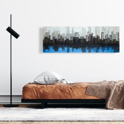 Canvas 16 x 48 - View of a blue city