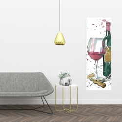 Canvas 16 x 48 - Bottle of red wine
