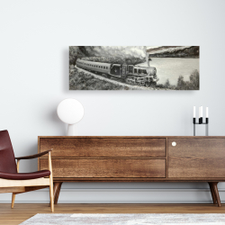 Canvas 16 x 48 - Vintage passenger locomotive