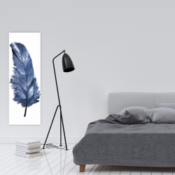 Canvas 16 x 48 - Blue feather
