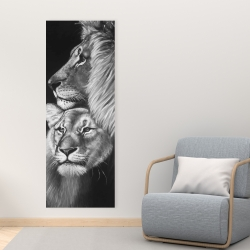 Canvas 16 x 48 - Lion and lioness