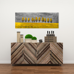 Canvas 16 x 48 - Yellow trees in a field