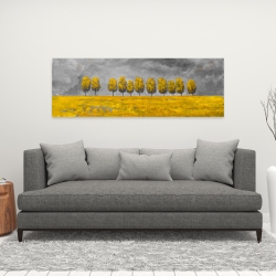 Canvas 16 x 48 - Trees in a field