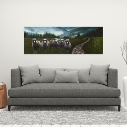 Canvas 16 x 48 - Sheep in the countryside