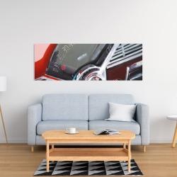 Canvas 16 x 48 - Vintage red car dashboard