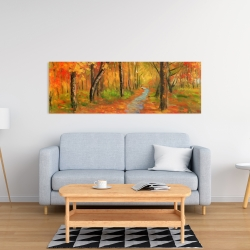 Canvas 16 x 48 - Autumn trail in the forest